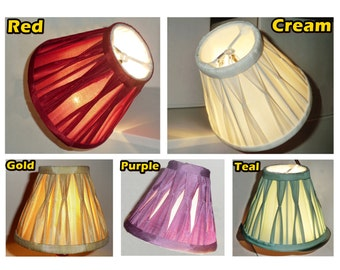Antique Style 6' Diameter Candle Lampshade Chandelier Pendant Lamp Wall Light Table Lamp Clip on to Lightbulb Bulb Pinch Pleat Polly Silk BN