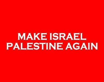 Kids T-Shirt Make Israel Palestine Again Screen Print in Kids S-L