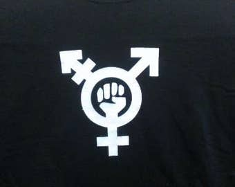 Babies and Toddlers Trans Feminism Symbol Onesie or Tot's Tee in Size Newborn, 6 Months, 12 Months, T2, T3, & T4