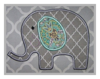Elephant Applique Design #2 - 9 Sizes PES DST JEF 10 Formats - Machine Embroidery Elephant Applique Design - Instant Download Files