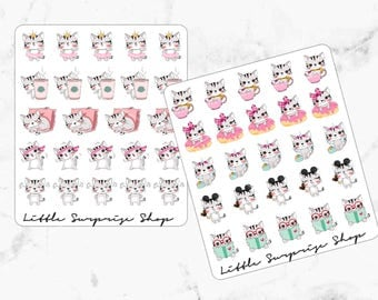 Kawaii Busy Kitty Stickers