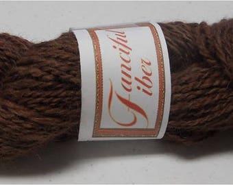 Handspun 100%  Llama Yarn 2 Ply  Rich Mocha Brown 4.50 oz 135 yd DK11  (22)