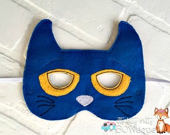 Pete the Cat inspired mask