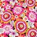 Bright flowers plain VB cotton fabric printed fabric  AB version--Cotton fabric, bedding fabric, bag fabric,curtain fabric--1/2 yard