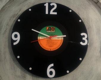 Uhr aus Schallplatte Atlantic LP Vinyl Deko Wall Clock Time