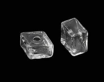 5 square diagonal 26 mm shaped glass domes