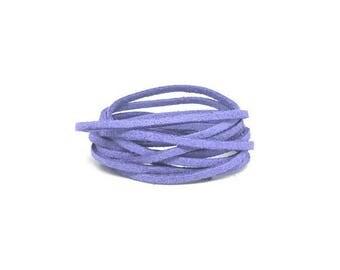 10 m 3mm blue Pastel lilac suede