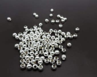 200 round beads 6mm metal