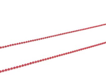 5 m chain ball balls 1.5 mm, Red