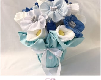 Washcloth Bouquet for Boy - Baby Shower Gift /Bouquet for Boy
