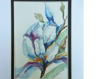 Iris Watercolor,  original watercolor, Iris painting
