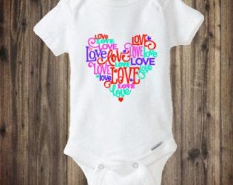 Valentines Onesie, Baby Girls Valentines Outfit, Heart Onesie, Love Onesie, First Valentines Day Onesie, Valentines Day Shirt