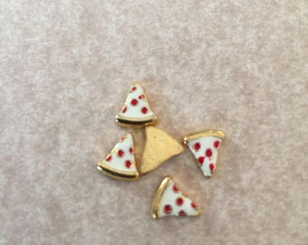 Floating Charms - Pizza Slice - For Memory Locket - 1 Piece