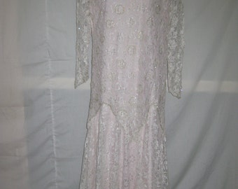 White/pink lining long gown# 14