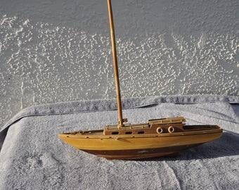 Vintage Sailboat Model For Repair or Display