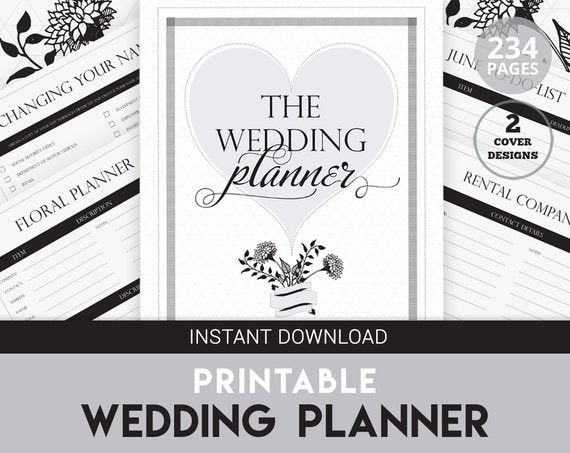 wedding planner printable diy wedding organizer by keepsaked