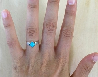 Sterling Silver, Sleeping Beauty Turquoise Pinky or Toe Ring.