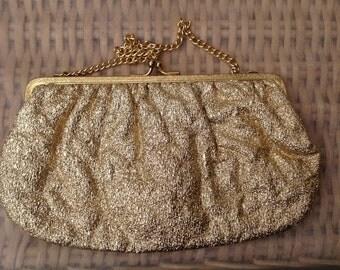 1960's Gold Lurex Evening Bag