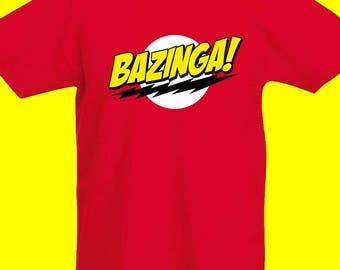 T-Shirt di Sheldon Cooper (The Big Bang Theory) BAZINGA