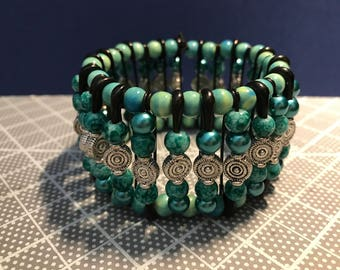 Jade inspired Safety Pin Bracelet