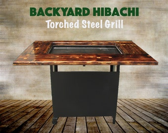 Backyard Hibachi Grill: Torched Steel Model