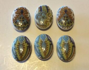 Vintage Porcelain Button Covers