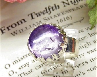 Large Lilac Amethyst Ring