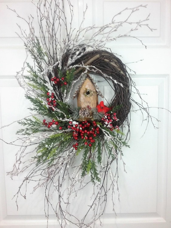 20 sale christmas wreath birch wreath holiday wreath. Black Bedroom Furniture Sets. Home Design Ideas