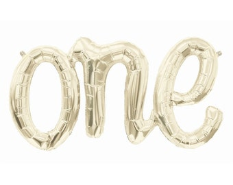 """30"""" one Balloon  l  First Birthday Balloons  l  One Script Balloon  l  First Birthday Decor  l  One Script Letter Balloons  l  One Balloon"""