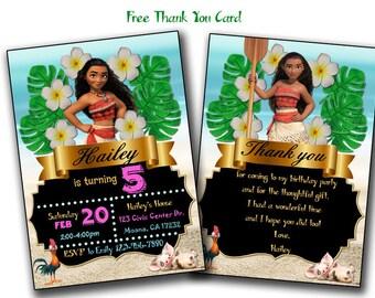 Moana Invitation, Moana birthday invitation, moana party, moana birthday, moana invitations, moana party invitation, moana, invitation moana