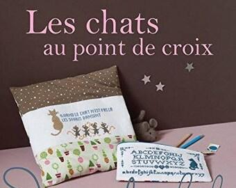 Les chats au point de croix -French cross stitch book