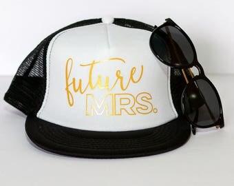 READY TO SHIP! Future Mrs. Hat & Cheers Bitches Trucker Hats | Bachelorette Hats| Bride Hat | Bachelorette Trucker Hats | Honeymoon Hat