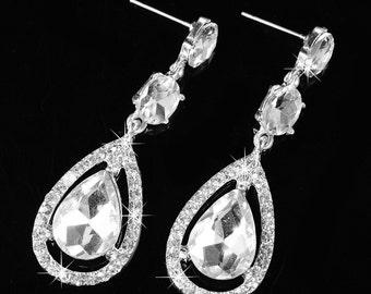 Crystal Diamonds Earrings
