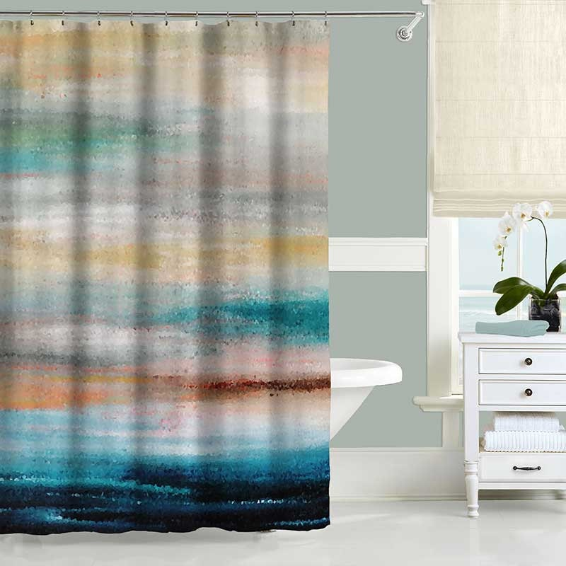 Beach Shower Curtain Ocean Shower Curtain Abstract Shower