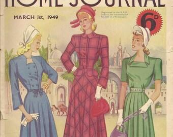 1940s Australian Home Journal Vintage Women's Magazine 1st June 1949