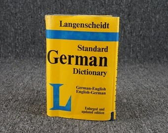 Vintage Standard German Dictionary, C. 1983