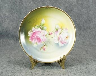 """C.T. Altwasser Silesia Vintage Porcelain 8"""" Decorative Plate c. 1925"""