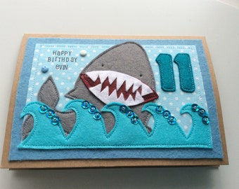 Shark Birthday Card | Children's birthday | Greeting Cards |