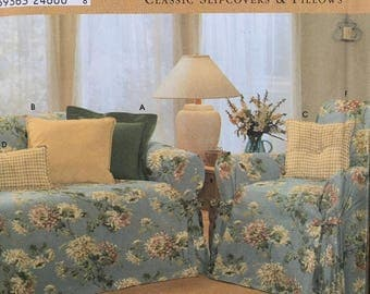 Simplicity 9529 Sewing Pattern Home Decor Classic Slipcovers & Pillows