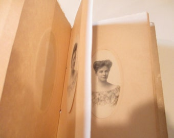 Townsend Lincoln Nebraska - Photographer's display photo album with 20 photos of women.  Wonderful antique vintage photos all oval shaped