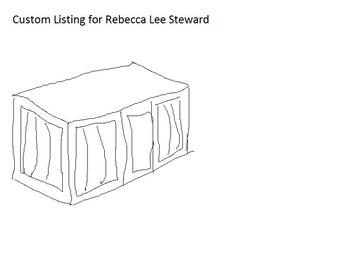 Custom Wooden Dog Crate for Rebecca Lee Steward