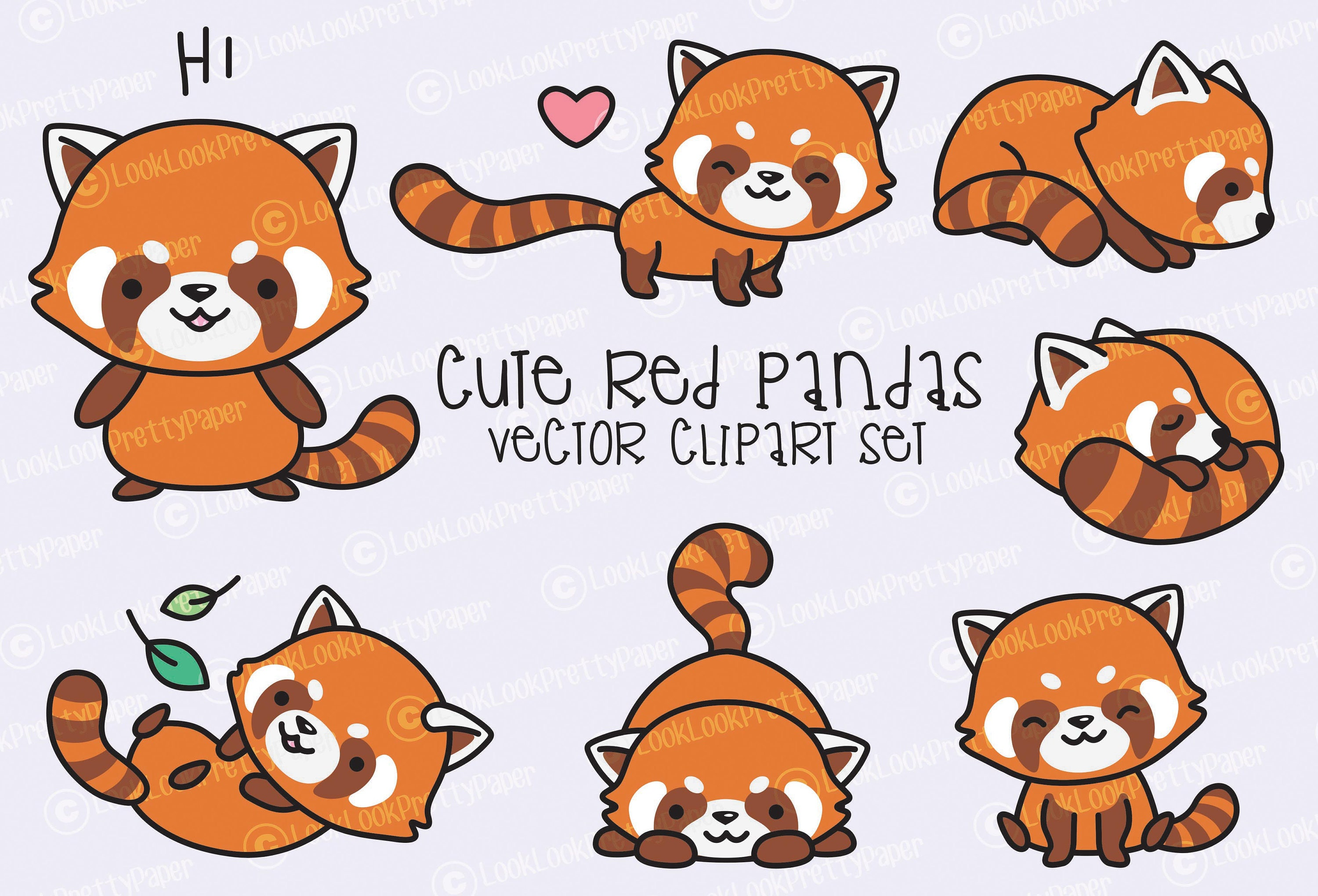 how to draw a cute baby red panda