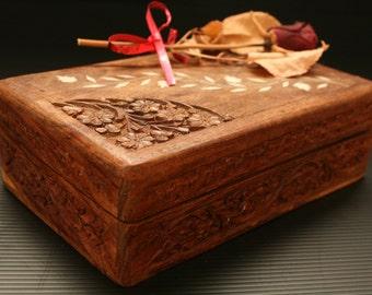 Wooden Jewelry Box, Wooden Box, Jewelry box, Treasury box, Hand carved box, Folk Box, Trinket box, Folk Art, Folk art box, Decorative box