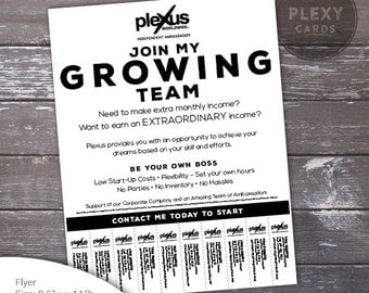 Plexus Business Building Flyer - With Tear Off Tabs (Digital File)