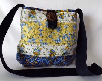 Quilted Cross Body Bag - Medium Size
