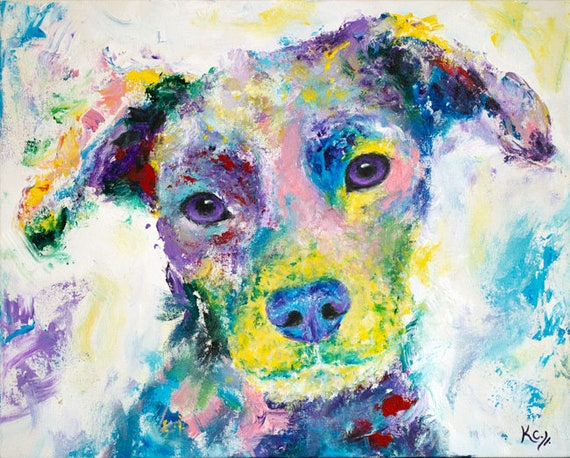 Dog Art Print. Puppy Dog Eyes. Dog Portrait. Colorful Dog Wall Art. Dog Mom Gift. Dog Lover Gift. Dog Owner Gift. Mom Dog Gift. Cute Dog.