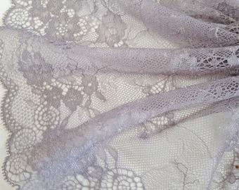 Grey Lace Trim Etsy