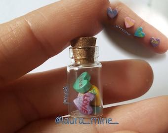 tiny hearts bottle charm