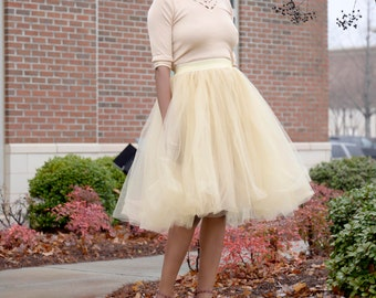 Full midi Tulle Skirt