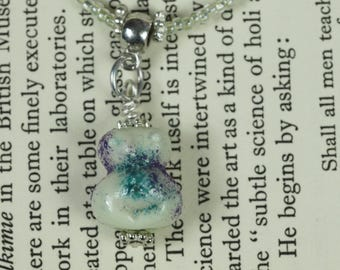 Reserved for Susan Tiny Pale Green Glass Goddess Necklace - Pagan, Wicca, Witchcraft, Lampworked Glass